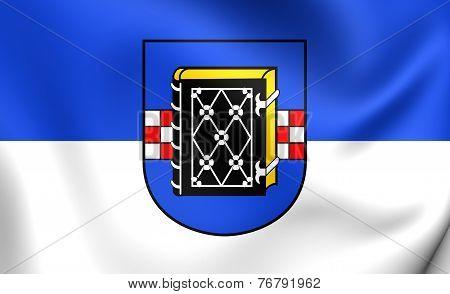 Flag Of Bochum, Germany.