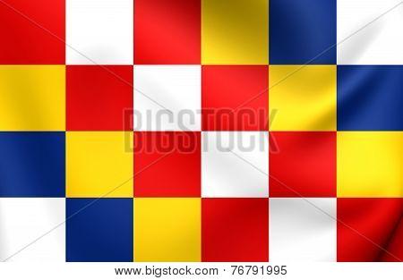 Flag Of Antwerp, Belgium.