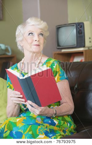 Grinning Woman With Book