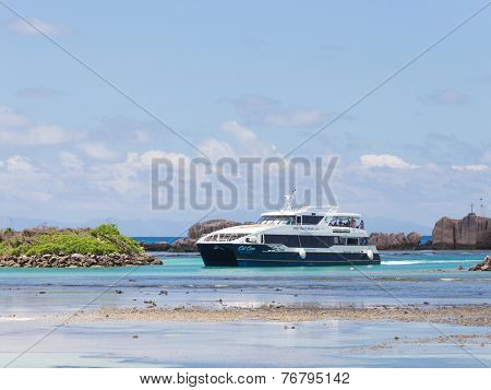 Ferry With Tourists