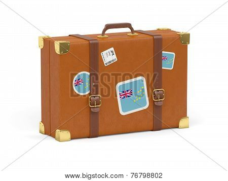 Suitcase With Flag Of Tuvalu