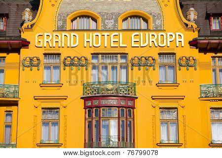 Famous Grand Hotel Europa In Prague
