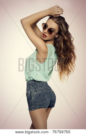 Trendy Girl Showing Her Back