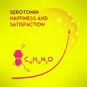 Постер, плакат: Happiness chemistry and satisfaction Vector