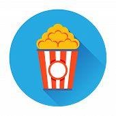 stock photo of popcorn  - popcorn ftat icon vector trendy illustrations isolated - JPG