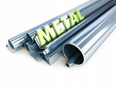 pic of pipe-welding  - metal pipes angles channels squares on a white background - JPG