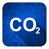 stock photo of carbon-dioxide  - carbon dioxide flat icon - JPG