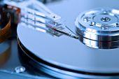 stock photo of hard-on  - hard disk drive macro background - JPG