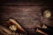 pic of baseball bat  - Old Vintage Baseball Background - JPG