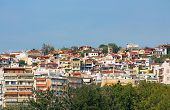 stock photo of suburban city  - Houses in Thessaloniki city in Greece - JPG