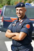 picture of special forces  - Portrait of Italian special military police force carabinier on duty - JPG