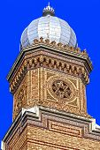 stock photo of synagogue  - Detail from Synagogue CETATE in Timisoara that was built between 1863 - JPG
