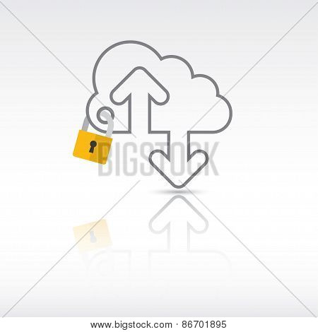 Security And Cloud Technology Concept