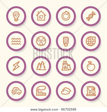 Ecology web icons set