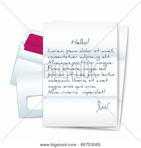 Letter With Two Envelopes