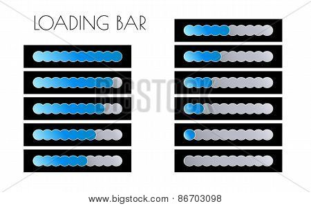 Blue Loading Bars