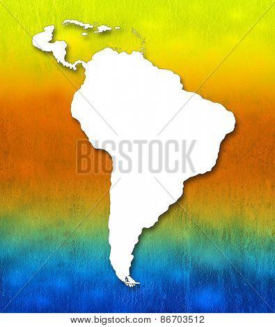 Art map - South America