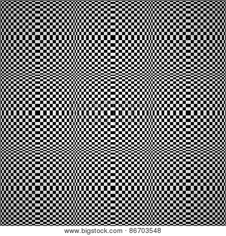 Abstract optical illusion seamless vector background.
