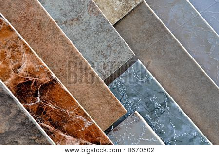 Ceramic Tile Samples at Home Improvement Store