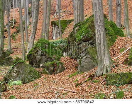 green stones