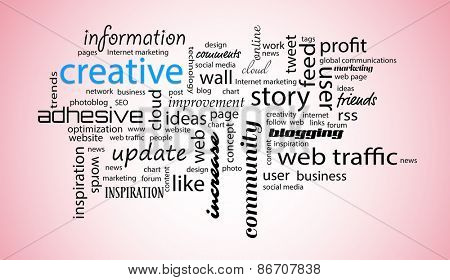 Word cloud. Creative concept
