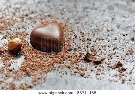 Delicious chocolate hearts