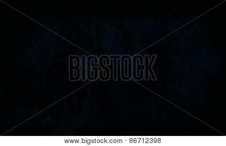 Dark Blue Grunge Textured Wall. Copy Space