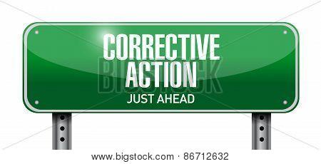 Corrective Action Street Sign Illustration