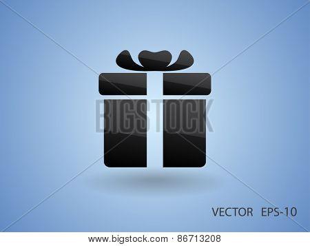 Gift box icon, vector illustration