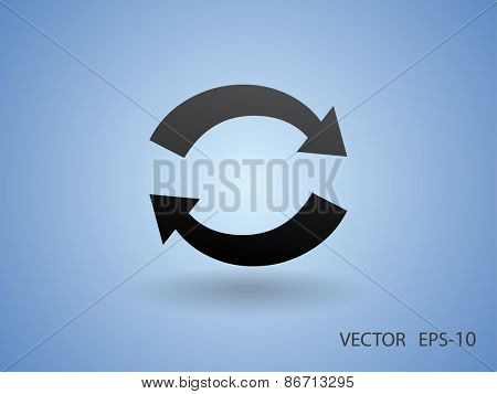 Flat icon of cyclic
