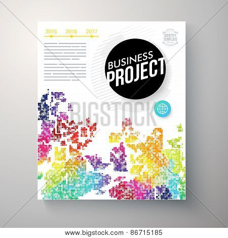 Stylish multicolored Business Project template