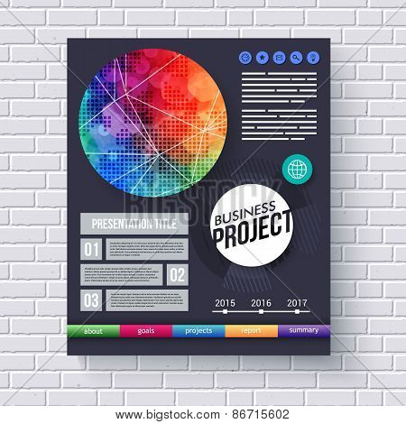 Business Project brochure or presentation template
