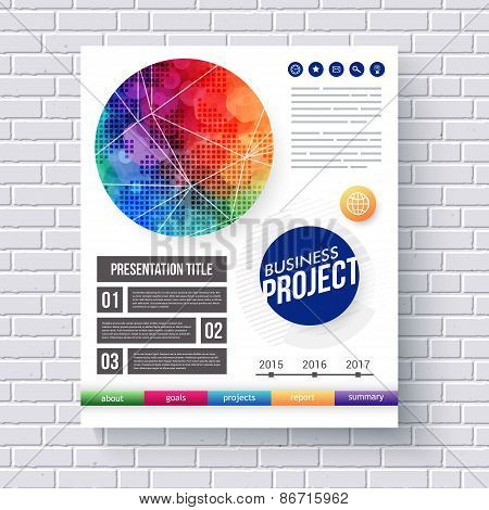 Eye-catching vector design for a Business Project