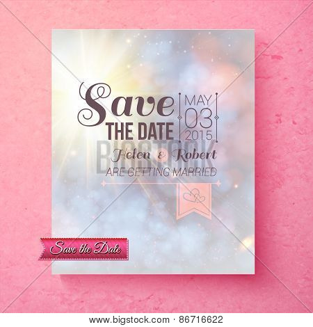 Soft spiritual Save The Date wedding template