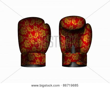 boxing gloves. Vector illustration Eps 10