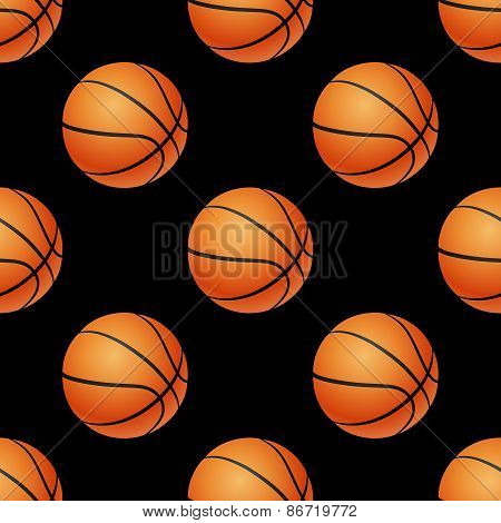 Basketball seamless pattern.