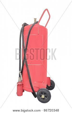 Fire extinguishers isolated under the white background