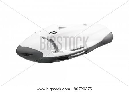 Underwater scooter under the white background