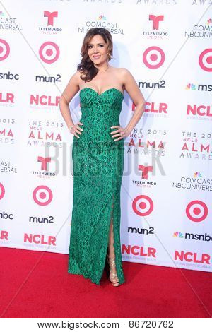 LOS ANGELES - SEP 27:  Maria Canals-Barrera at the 2013 ALMA Awards - Arrivals at Pasadena Civic Auditorium on September 27, 2013 in Pasadena, CA