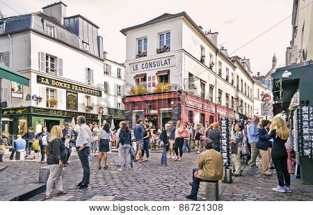 View Of Typical Paris Cafe On September 08, 2013 In Paris