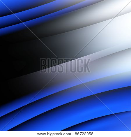 3D illustration of abstract with blue shapes