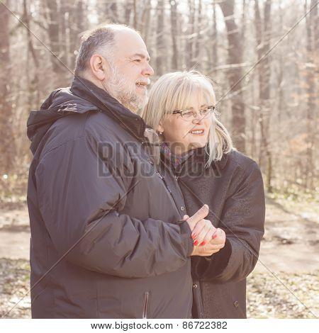 Happy Elderly Senior Romantic Couple