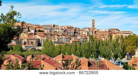 a panoramic view of Tarazona, in the province of Zaragoza, Spain