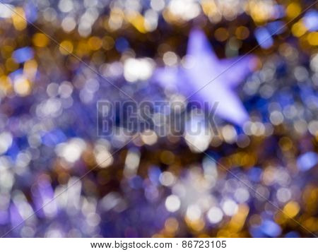 Blur Abstraction With Gold Glitter