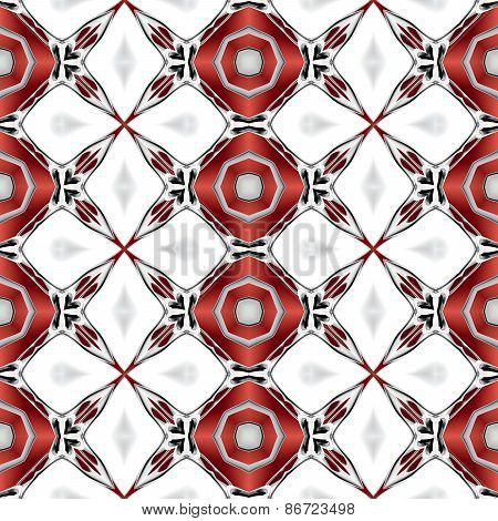 Abstract clean white texture or background with modern red pattern made seamless