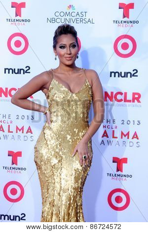 LOS ANGELES - SEP 27:  Adrienne Bailon at the 2013 ALMA Awards - Arrivals at Pasadena Civic Auditorium on September 27, 2013 in Pasadena, CA