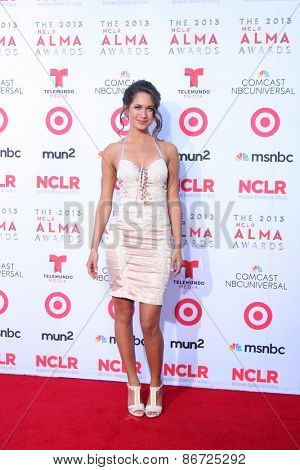 LOS ANGELES - SEP 27:  Maiara Walsh at the 2013 ALMA Awards - Arrivals at Pasadena Civic Auditorium on September 27, 2013 in Pasadena, CA