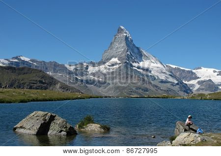 Matterhorn And Lake Stellisee,