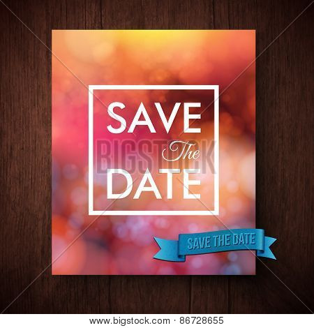 Eyecatching bold simple Save The Date template