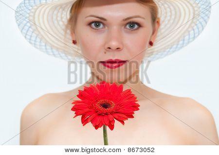 Flower Against The Girl